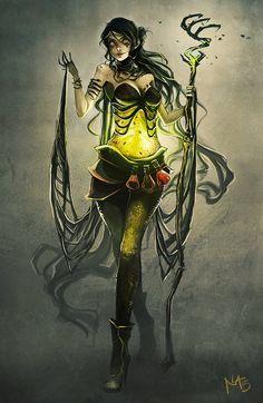 Wicked Necromancer by Radittz on DeviantArt