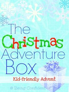 The Christmas Adventure Box is a fun, frugal, and kid-friendly advent activity! Learn the spiritual significance behind Christmas traditions such as Christmas lights, Christmas Trees, stockings, and so forth.  Excellent to use as Christmas curriculum for homeschool, AWANA, Children's Church, Daycare, Preschool, etc. The Christmas Adventure Box