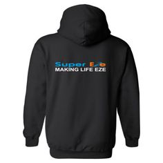 SuperEze - Making Life Eze - Heavy Blend™ Hooded Sweatshirt BACK ONLY Hooded Sweatshirts, Hoodies, Grated Cheese, Shirt Designs, T Shirts For Women, How To Make, Life, Fashion, Sweatshirts