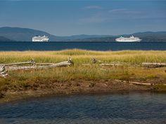 The Norwegian Dawn and The MV Artania in Gaspé Bay - Credit: Mathieu Dupuis