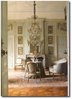 French Interiors- Decorating With Celadon