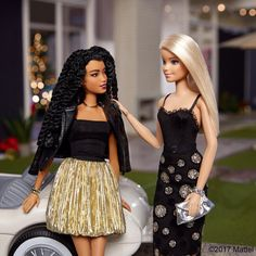 I love to coordinate with my girls, sharing a metallic moment! ✨ #barbie #barbiestyle