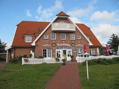 Blick auf Eingang - Ferienwohnungen Teestube Baltrum