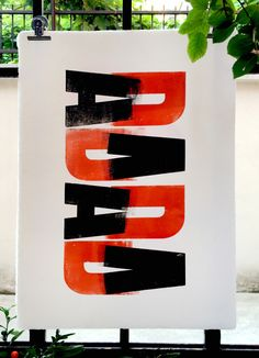 Dada poster by Cabaret Typographie. It is our interpretation of Dadaism movement.