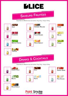 Point Smoke - eliquide Dlice - saveurs fruitées, cocktails, drinks - #eliquide #dlice #fruits #cocktail #drinks #vape #pointsmoke #ejuice #vapoteur #ecig #ecigarette