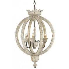 THE WELL APPOINTED HOUSE - Small Stockholm White Dauphin Chandelier - Chandeliers - Lighting