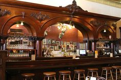 brunswick bar back | The 1880's Brunswick Bar - unmarked by fire - in The Palace. Care to ...