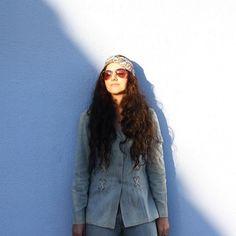 Thursday Daydream  @chrry_bomb in The Boyd Scarf Turban the perfect powder blue paisley accessory // #BabesInBands #MadeInLA #ScarfTurban #Headband #Turband #ImWithTheBandHeadbands #Blue #DayDream #CanadianTuxedo #GetWithTheBand