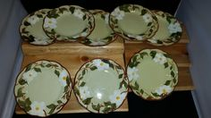 Set of 8 Stangl Pottery White Dogwood Pattern - Bread & Butter Plates