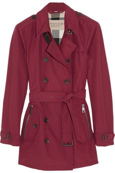 Burberry Brit Cotton-blend twill trench coat | NET-A-PORTER