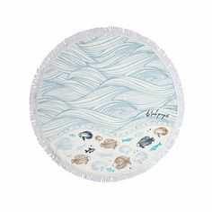 top3 by design - The Beach People - round towel oceanic petite