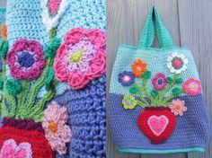 crocheted bag: Gehaakte tas