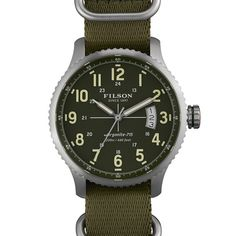 The Mackinaw Field Watch... Assembled by hand in Shinola's state-of-the-art Detroit factory, this three-hand watch with date is built to withstand the demands of the field.