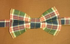 Adult & Children's Plaid Cotton Pretied Bowtie/ Pretied Bow Tie by HouseOfJdawn on Etsy