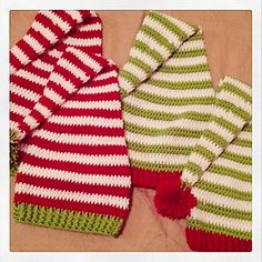 Crochet Hats Patterns Elf Hat - Free Christmas Crochet Pattern - sizes toddler through adult - Crochet Baby Hats, Crochet Beanie, Knit Or Crochet, Crochet For Kids, Crochet Clothes, Crocheted Hats, Crochet Santa Hat, Crochet Ideas, Crochet Projects