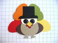 Creations on Paper: Turkey Owl Punch Art