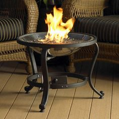 The Outdoor GreatRoom Company Tripod Crystal Fire Pit CFT-POD-K