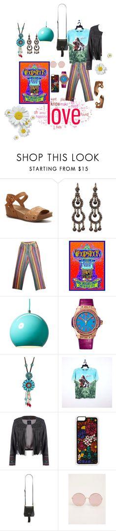 """Janis Joplin/Woodstock"" by mary-briden-mccombs ❤ liked on Polyvore featuring Rocket Dog, &Tradition, Hublot, Natasha, Janis, Lea Lov, Zero Gravity, Aimee Kestenberg, Torrid and bandtees"