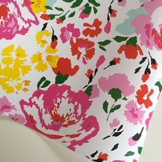 Floral Wrapping Paper 30 inches x 12 feet by PetalandForrest