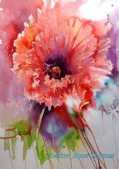 Watercolor Florals - Poppy, by Joanne Boon Thomas