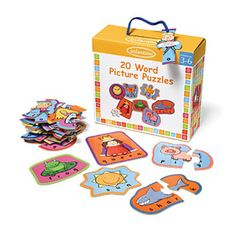 $12.71 - 20 Word Picture Puzzles is an 84 piece set that features three, four, and five letter words with matching brightly-colored pictures. Beautifully constructed, great for learning and guaranteed fun. DIMENSIONS: Packaging size: 9.5H x 3.75D x 8.75W Like puzzles? See ?em all here!