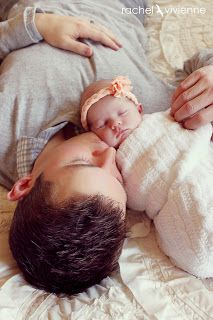 Beautiful picture of dad and baby. The whole shoot is very sweet