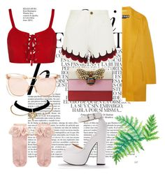"""""""#229"""" by serenafenty on Polyvore featuring mode, Whiteley, Chloé, Linda Farrow, Gucci, Rochas et Monsoon"""