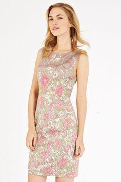 Morpheus Boutique  - Beige Floral Sleeveless Pattern Floral Pencil Dress, $119.99 (http://www.morpheusboutique.com/beige-floral-sleeveless-pattern-floral-pencil-dress/)
