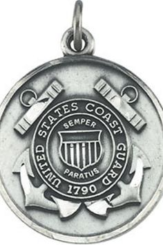 St. Michael / U.S. Coast Guard Medal     Quality - Sterling Silver    Size - 22.50 MM     Finish - Polished     Series Description - ST. MICHAEL US COAST GUARD MEDAL      ST-R45049    http://www.thesgdex.com