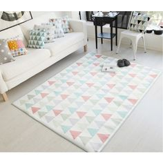 ขายสินค้าดี<SP>White Triangle Carpet Fiber Living Room Decor Rug,50X80CM++White Triangle Carpet Fiber Living Room Decor Rug,50X80CM Style:Pastoral Use:Home,Hotel,Bedroom,Prayer,Outdoor,Decorative,Bathroom,Toilet,Commercial Wash Style:Hand Wash,Mechanical Wash Place:Parlor P ...++