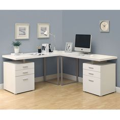 home office corner desk furniture home office furniture desk Wall units can be of a number of different types. home office corner desk furniture are one of the m. White Corner Desk, L Shaped Corner Desk, White Desk Office, White Desks, Corner Office, Small Office, Small Corner, Corner Unit, White L Shaped Desk