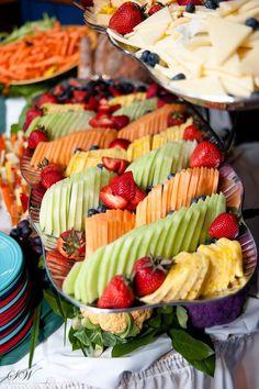 graduation open house ideas | Creative way to do a fruit tray.