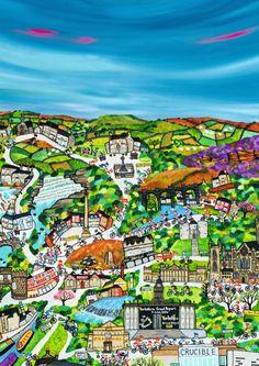 Caroline Appleyard's wonderful illustration of the Tour de Yorkshire