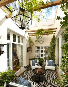 I Bet That Jasmine Smells Divine In That Small Space. Front Courtyard,  Courtyard Design