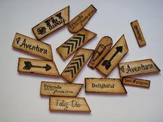 El caracol verde: Adornos de madera caseros y muy originales