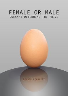 Gender equality ( Poster ) on Behance Create quality for all by becoming an… Gender Equality Quotes, Feminist Movies, Gender Inequality, Gender Binary, Equal Pay, Gender Studies, Social Awareness, Creative Advertising, Frases