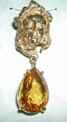 Pendant, Amber and Gold