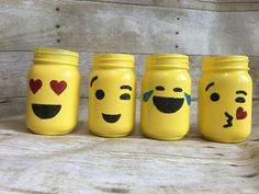 These emoji mason jars are great for gifts, parties, or home decor. They would make great custom party favors or decor. Please fill out the order form to customize your jars to fit your needs! If the