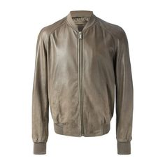 ALEXANDER McQUEEN Bomber Jacket (4.905 BRL) ❤ liked on Polyvore featuring men's fashion, men's clothing, men's outerwear, men's jackets, grey, mens leather jackets, mens leather flight jacket, mens grey jacket, mens grey leather jacket and mens leather bomber jacket