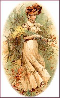 Vintage late 1800s lady .@@@@......http://www.pinterest.com/caroleminiature/histoire-de-femmes/