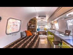 When you step in the Airstream, you've entered a distinctive world. If you're fortunate enough to have an Airstream, you may be thinking about giving . Airstream Remodel, Airstream Renovation, Airstream Interior, Vintage Airstream, Airstream Trailers, Vintage Trailers, Yacht Interior, Vintage Campers, Travel Trailers