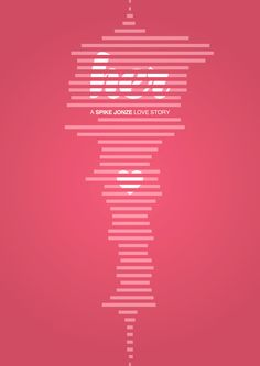 """Minimalist poster for the movie """"Her"""" directed by Spike Jonze. #Movie #Poster #Her"""