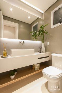 Ideas For Bathroom Mirror Lighting Ideas Beautiful Bathrooms, Modern Bathroom, Small Bathrooms, Bathroom Mirror Lights, Toilet Design, Bathroom Toilets, Bathroom Interior Design, Bathroom Inspiration, House Design
