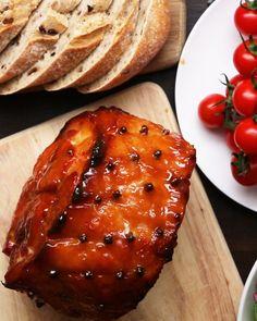 Pineapple Maple Glazed Ham by Tasty