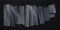 'Klesvask' Acrylic + marker on canvas. 160x80 cm. By Jan Ove Iversen