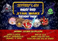 Star Wars Birthday Invitations The Force Awakens