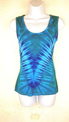 Tie dye vest Small tie dye Wide strap vest Women's vest