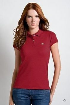 Brand New Authentic Factory Overrun Lacoste Women s Short Sleeve  Non-stretch Pique Polo Color  Red Php d92d266cb2