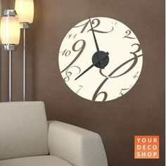 Stylish Numbers Wall Clock Sticker Wall Stickers Red, Wall Clock Sticker, Wall Decals, Clock Wall, Classic Clocks, Red Candy, Home Accessories, Numbers, Interior Design