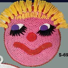Funny Face IV Potholder | No. S-691 | Crochet Patterns